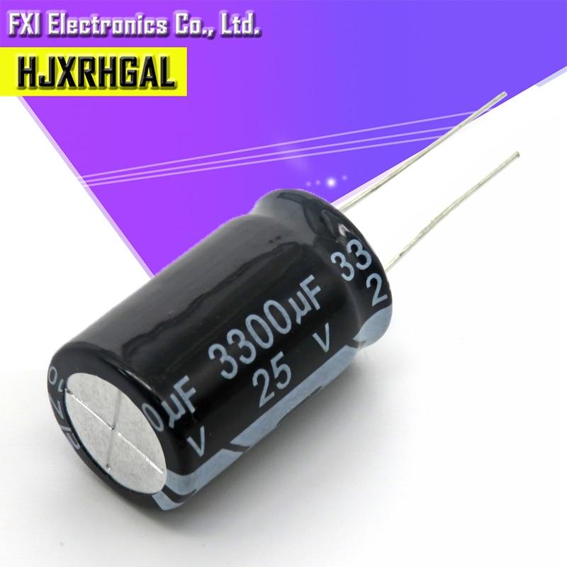 10PCS 25v3300uf 3300uf25v 13*26 25v 3300uf 13x26 Electro Electrolytic Capacitor