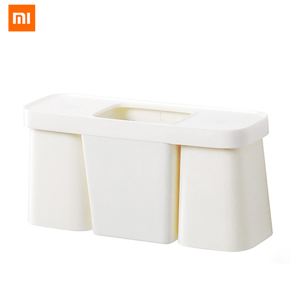 Xiaomi Jordan&Judy Bathroom Magnetic Adsorption Toothbrush Holder Inverted Cup Accessories Set Wall Mount Bathroom Storage Rack image