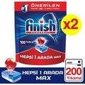Finish Alle In Einem 200 Tablet Spülmaschine Waschmittel (100 X2) Gericht Maschine Polierer Spülmittel Öl Lösungsmittel