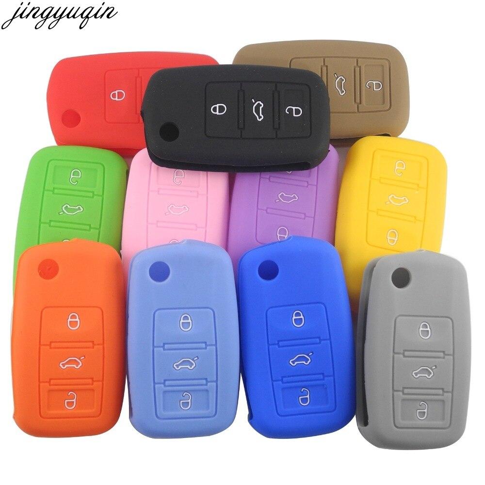 En Silicone 3 boutons, pour voiture VW Golf 4 5 6 7 Bora Jetta POLO MK4 MK6 Bora Passat B5 B6 superbe coccinelle, etui clés