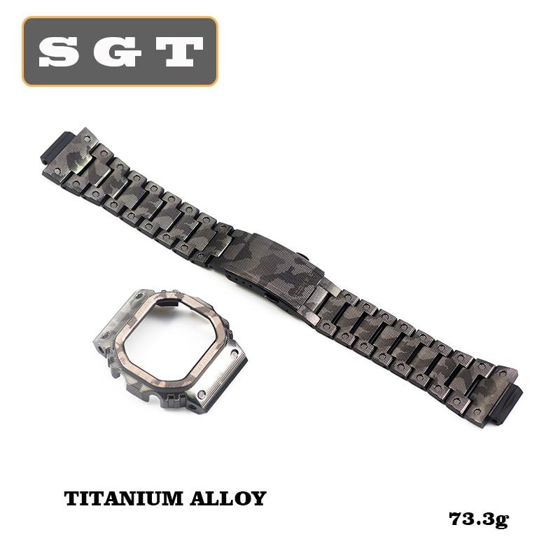 Titanium Alloy Watch Bands DW5600 DW5610 GW5600 Series Watch Strap Watchbands Bracelet Fit For Watch Frame Case Solid Bezel