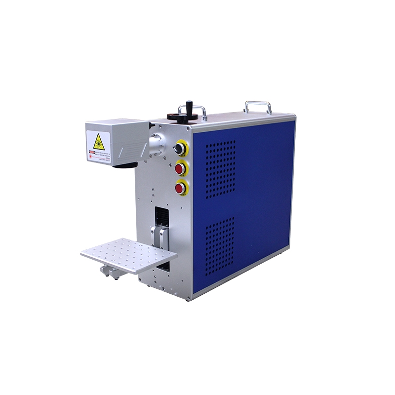LY portable Raycus fiber <font><b>laser</b></font> nameplate Marking machine all in one metal engraver machine <font><b>20W</b></font> 30W 50W for choose image