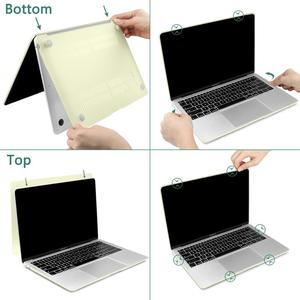 Image 5 - 3 in 1 Laptop Case for MacBook Air 11 13 inch & Pro Retina 16 13.3 15 2019 2018 Crystal Matte Hard Shell Cover Keyboard Skin