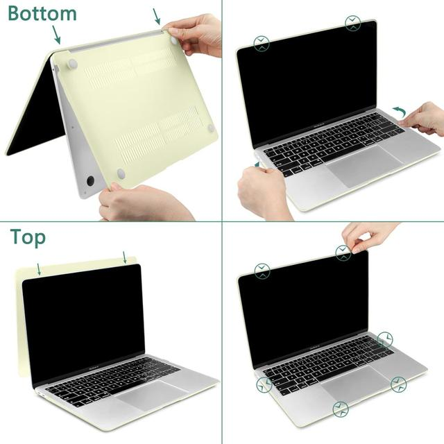 4 in 1 Laptop Case for MacBook Air 11 13 inch & Pro Retina 16 13.3 15 2019 2018 Crystal Matte Hard Shell Cover Keyboard Skin