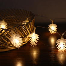 Pine cone LED Luminous 3M 6M 10M EU Plug Christmas Fairy Light Garlands For Wedding Party New Year s Decoration