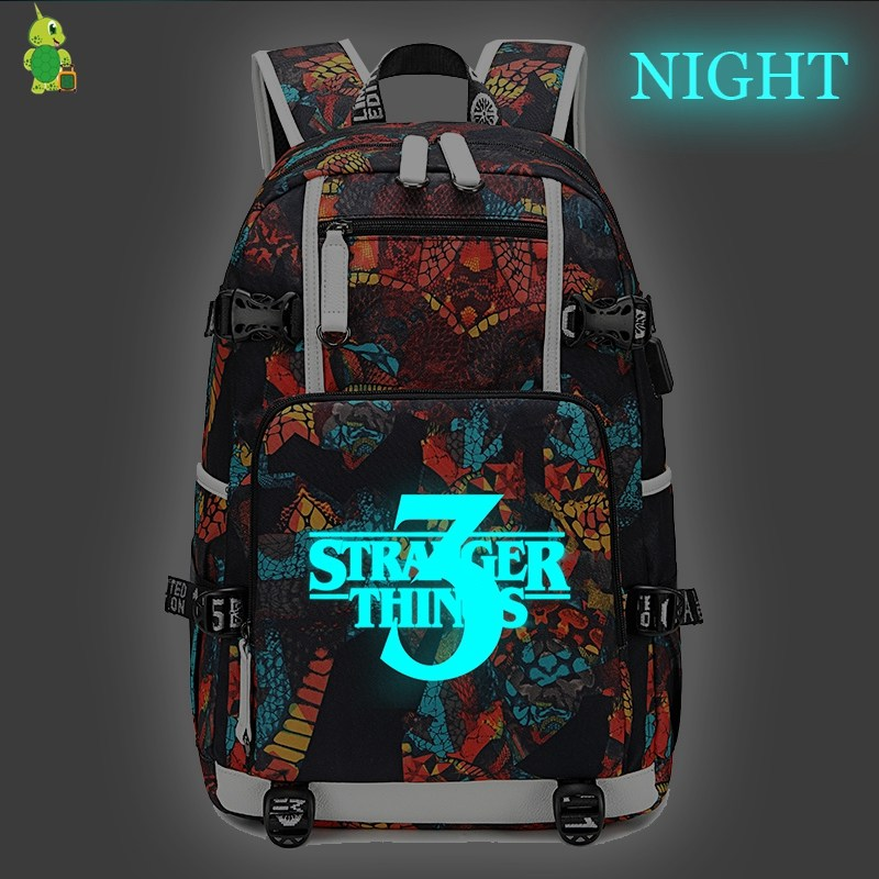 Mochila Stranger Things 3 Backpack School Bags for Teenage Girls Women Men Travel Backpack Laptop Backpack Luminous Casual Bags-in Backpacks from Luggage & Bags on AliExpress - 11.11_Double 11_Singles' Day 1