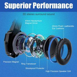 Image 3 - Her oyun kulaklık Stereo aşırı kulak oyun kulaklık bandı kulaklık Mic ile LED ışık PC Gamer için + 6 düğme pro oyun fare