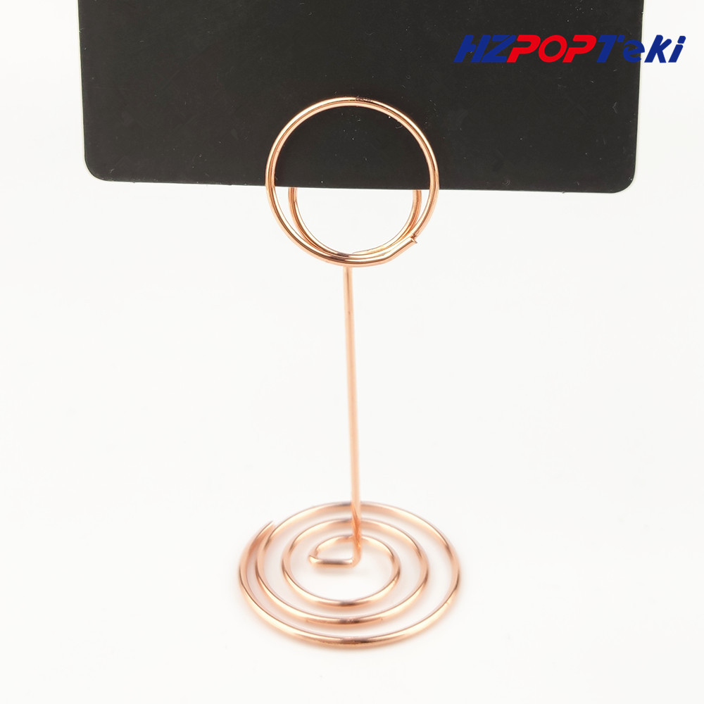 Mini Metal POP Sign Signage Price Paper Card Promotion Display Label Small Memo Clips Holders Wire Winding Type 100pcs