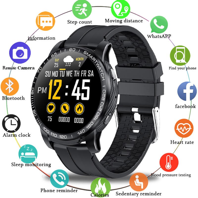 LIGE 2020 New Full circle touch screen Mens Smart Watches IP67 Waterproof Sports Fitness Watch Luxury Smart Watch Phone for men