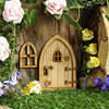 16 Styles Self Assembly 3D Wooden Fairy House Door Set Hand Made DIY Christmas Tree Decoration Garden Miniature Craft Decoration