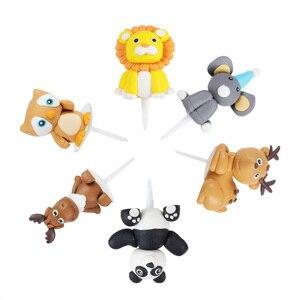 Image 5 - Decoração de bolo de aniversário weigao, jardim zoológico para meninos, macaco de leão, selva, para decoração