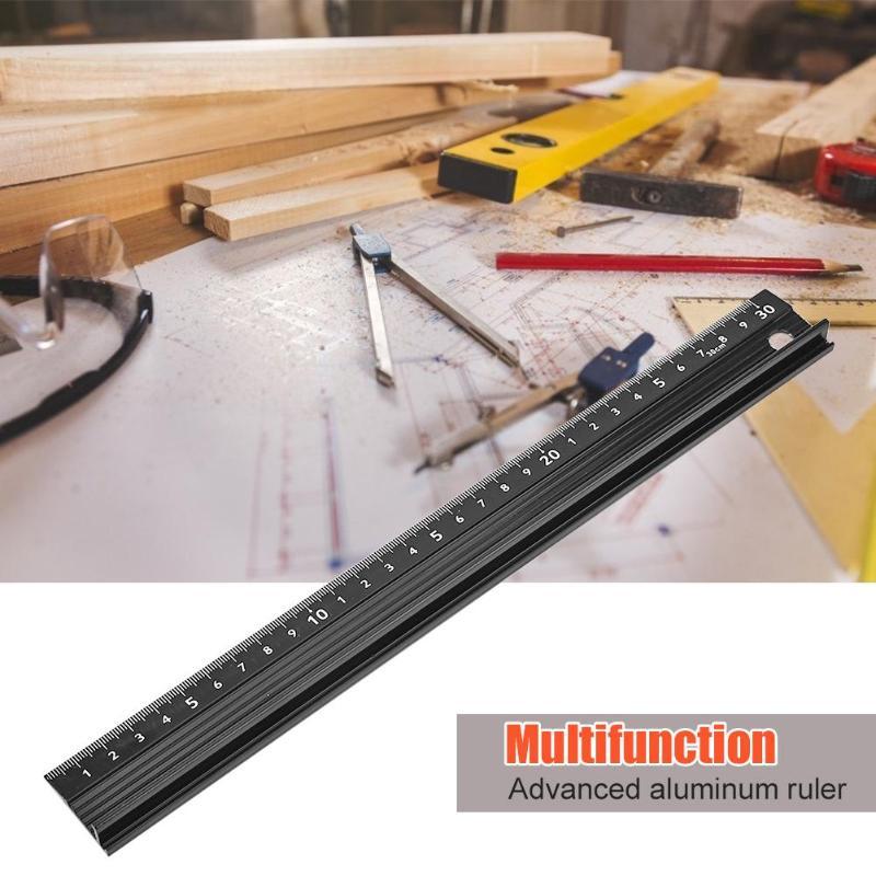 Ruler Cutting Aluminum Alloy Tool Straight Metal Protection 20cm//30cm//45cm
