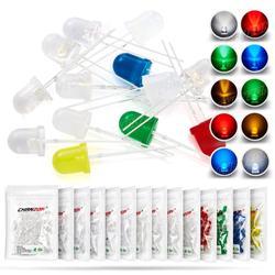 50 шт., светодиод 8 мм, микро-индикатор, белый, красный, зеленый, синий, желтый, 3 в, «сделай сам», печатная плата, схема, прозрачная, рассеянная ла...