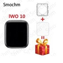 Smochm IWO 10 Bluetooth inteligentny zegarek seria 1:1 IWO 8 Plus IWO 9 zaktualizowany GPS Tracker sportowy Smartwatch dla Apple iPhone Android