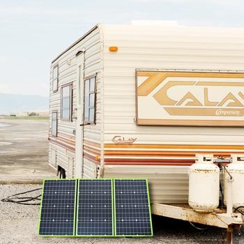 150w 50w*3 20v mono solar panel flexible foldable for home charger kit controller 5v usb for 12v RV car battery camping travel 6