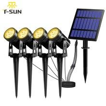 T SUNRISE مصباح حديقة شمسي ليد IP65 مقاوم للماء مصباح شمسي في الهواء الطلق مصباح بعمود لحديقة الحديقة في الهواء الطلق