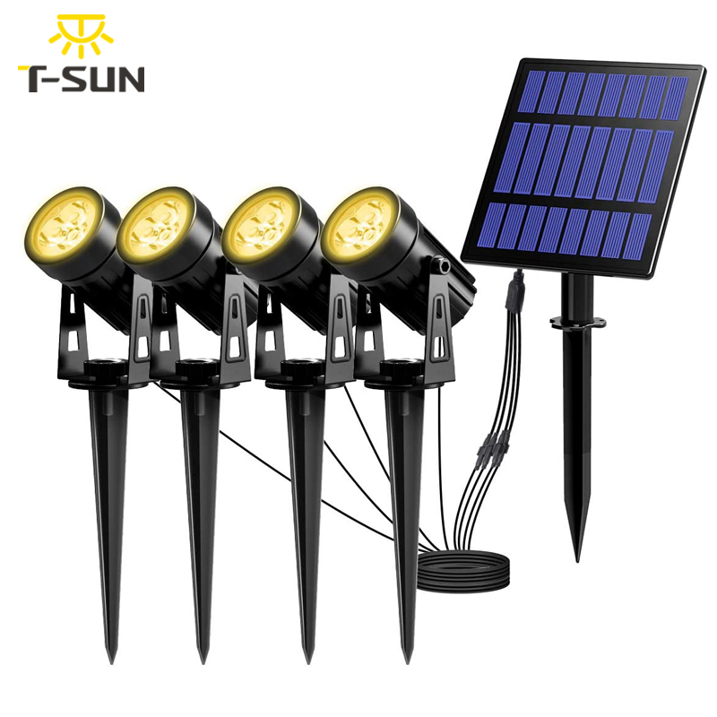 T-SUNRISE LED Solar Garden Light IP65 Waterproof Solar Lamp Outdoors Landscape Lamp For Outdoor Garden Lawn