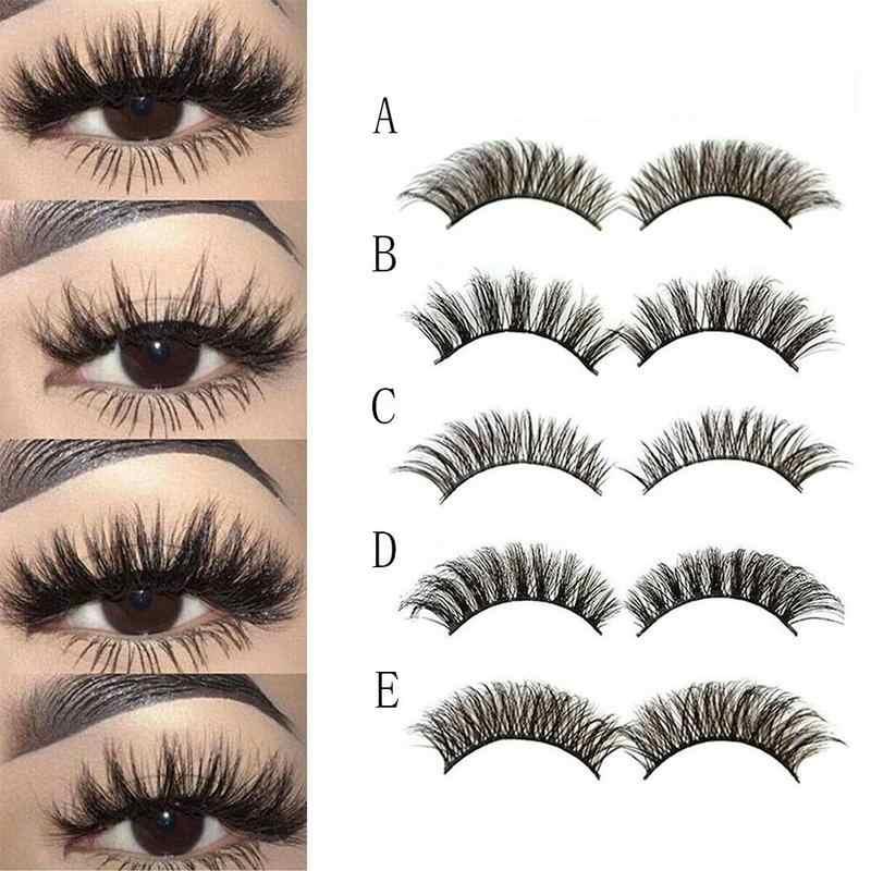 5 çift vizon saç sahte kirpikler doğal çapraz yanlış Eyelashes uzun dağınık makyaj sahte göz Lashes uzatma makyaj güzellik araçları