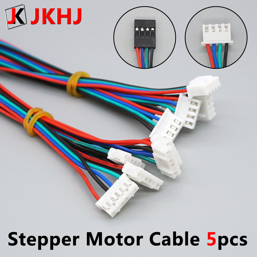 3D Printer Parts Stepper Motor Cable 1M/2M 2.54 4pin-XH2.0 6pin For Stepper Motor Cable Connector 5pcs/lot