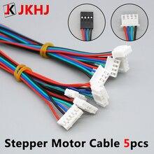 цены 3D Printer Parts Stepper Motor Cable 1M/2M 2.54 4pin-XH2.0 6pin for Stepper Motor Cable Connector 5pcs/lot