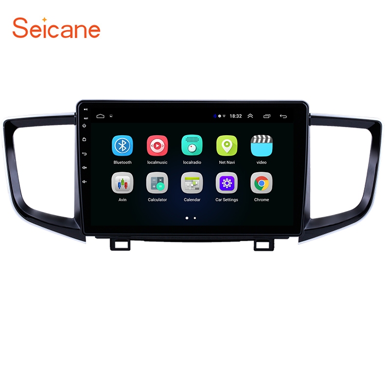 Seicane 2Din Car <font><b>GPS</b></font> Navigation Radio Stereo Android 8.1 Unit Player Stereo <font><b>for</b></font> 2016-2018 <font><b>Honda</b></font> <font><b>Pilot</b></font> support Mirror Link OBD2 image
