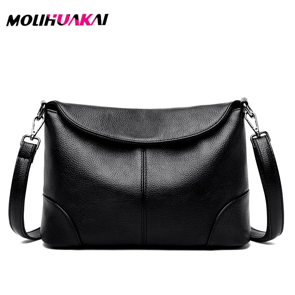2 Styles Female Shoulder Messenger Bag Ladies Soft Genuine Leather Crossbody Bags For Women Handbag Tassel Bucket Bag Sac A Main