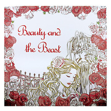 Coloring-Book School-Craft-Supply Beauty-Beast English-Edition Adult Kids for Reducing-Pressure