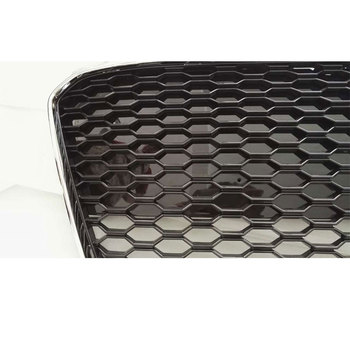 Car Styling R8 RS Style Chrome Frame Nero Anteriore Griglia Della Griglia Per Audi R8 2013 ~ 2016