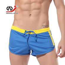 New wj men's bottom shorts  fashion loose quick-drying fabric male shorts home Sleep shorts 5 colors size S M L XL