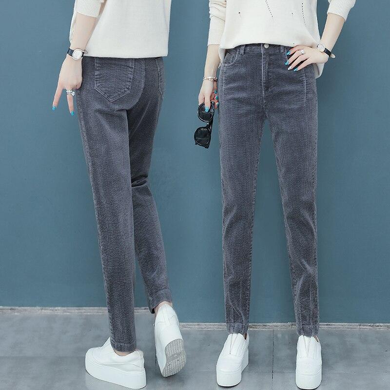 Women Clothes Corduroy Pants Women's Spring And Autumn New Loose Corduroy Harem Pants Casual High Waist Carrot Pants