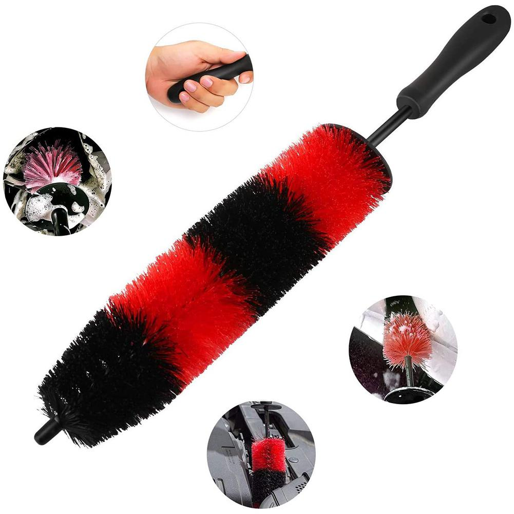 Car Brush Wheel Hub Special Car Hair Brush Tire Brush Soft Hair Cleaning Beauty Supplies Automobile Washing Cleaning Wash