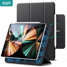 Coque mince à rebond magnétique ESR, étui mince à triple pli pour iPad Pro 11 2021 3e génération 12.9 5e 2021 2021