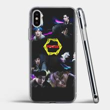 For Samsung Galaxy J1 J2 J3 J4 J5 J6 J7 J8 Plus 2018 Prime 2015 2016 2017 Retail Silicone Phone Case yellow kpop EXO power logo(China)
