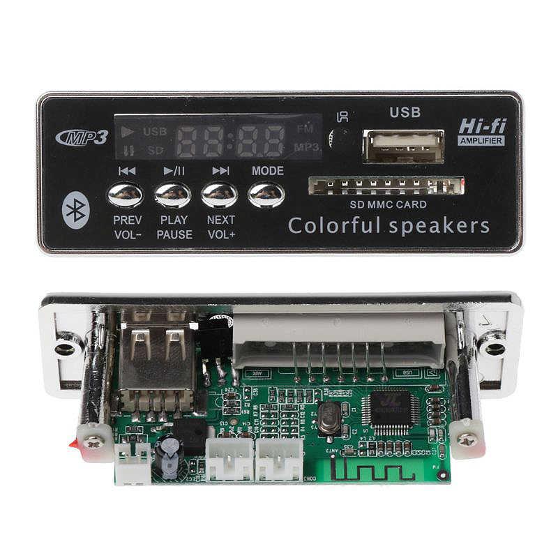 Bluetooth Mp3 Bộ Giải Mã Ban Giải Mã Cầu Thủ Module Hỗ Trợ Đài Fm Usb Tf Lcd Nhựa Mp3 Wma