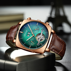Watch Men's Mechanical Watch Automatic Hollow Business Square Top Ten Watch Brands Waterproof Men's Watch 2020 New