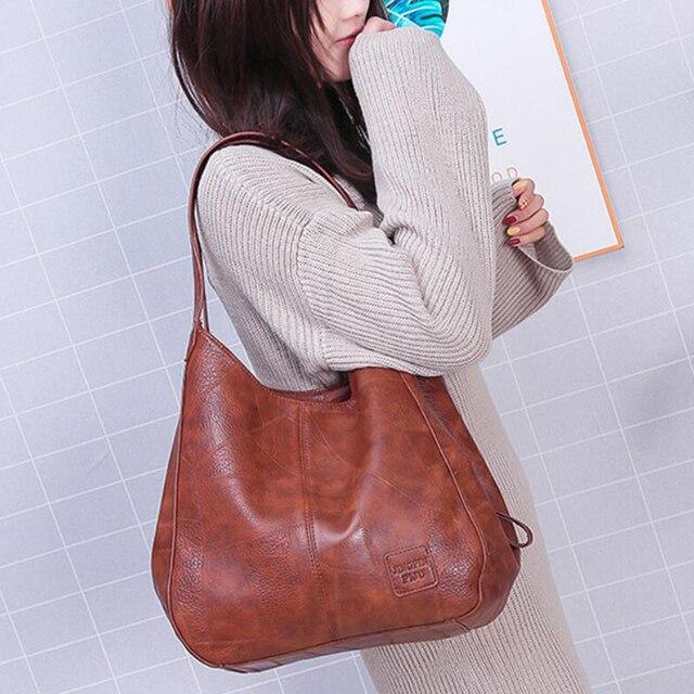 Vintage Women Hand Bag Designers Luxury Handbags Women Shoulder Bags Female Top-handle Bags Fashion Brand Handbags 4