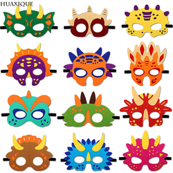 Dinosaur Felt Masks Cute Dino Costume Dress Up For Children Birthday Decoration Baby Shower Party Supplies