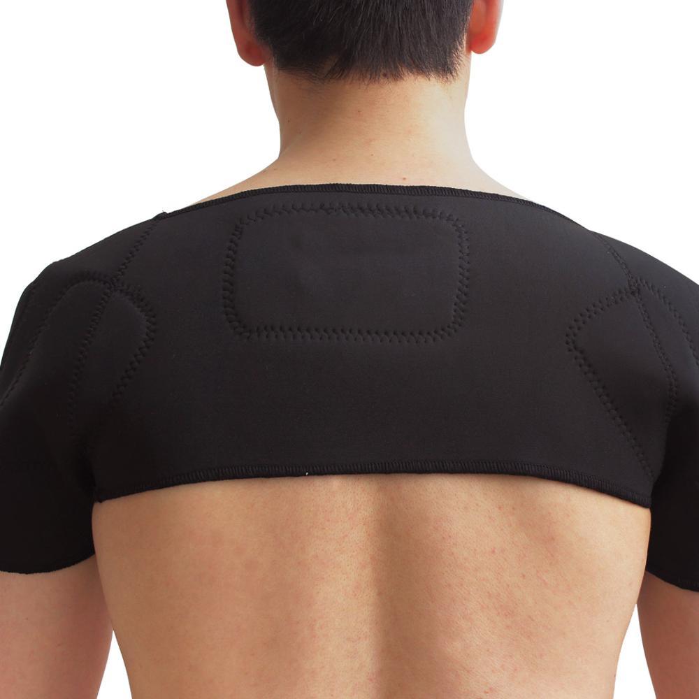 1PCS Self-heating Tourmaline Shoulder Magnetic Therapy Support Brace Belt For The Back Posture Corrector Massager