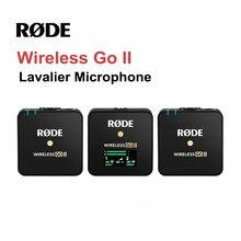 Rode-micrófono inalámbrico Go II, amplificador Lavalier de doble canal, transmisión de 200m, condensador de estudio para cámara DSLR de teléfono