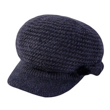 Women Beret Hat New Knitted Hats Ladies Solid Berets Rabbit Fur Female Thick Warm Autumn Winter for