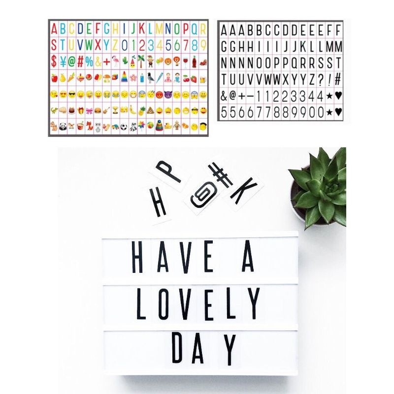 Letter Words For A4 Size Cinematic Light Box,Color Changing Cinema Light Box Letters 40JE