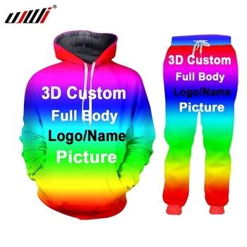 UJWI 3D Custom Print Men/Woman two piece set Party Graduation Memorial Couple Tracksuit Sweatsuit Sweatshirt Hoodies sports 1