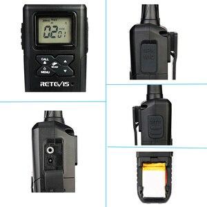 Image 3 - Mini talkie walkie portatif RT41 2 pièces VOX Scan sans licence FRS Radio bidirectionnelle NOAA alerte météorologique émetteur récepteur Hf