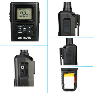 Image 3 - Retevis RT41 Handheld Mini Walkie Talkie 2pcs VOX Scan License free FRS Two Way Radio NOAA Weather Alert Hf Transceiver