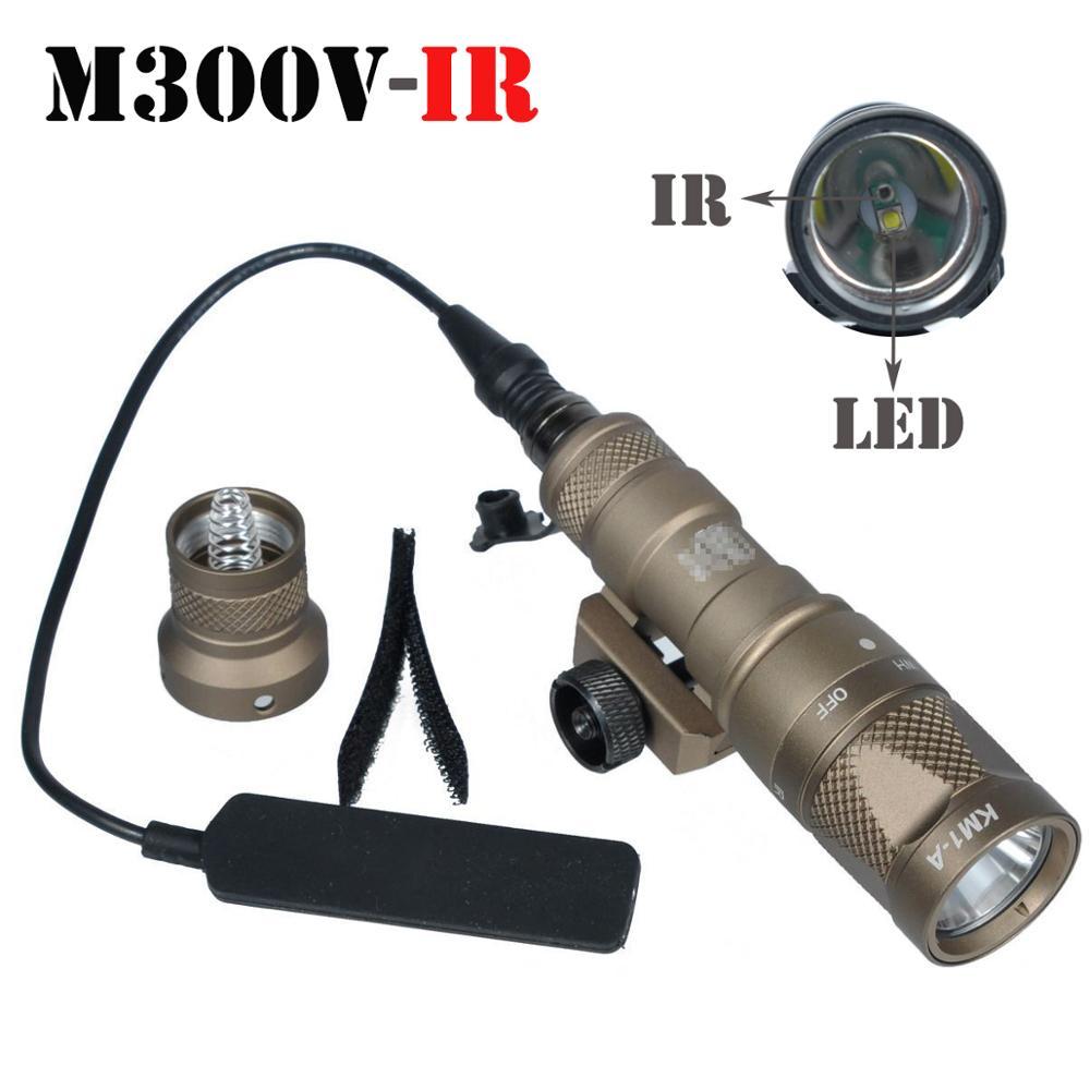 Инфракрасный светильник M300V, белый светодисветильник и ИК-выход с дистанционным переключателем давления, для разведки оружия, охоты, рельсо...