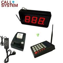 Queue Management System 2 oder 3 digit anzahl display mit anzahl ticket drucker