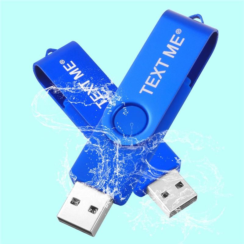 TEXT ME 360 Flip Pen-drive OTG USB2.0 Usb Flash Drive 4GB 8GB 16GB 32GB 64GG Pendrive USB 2.0 Usb Stick
