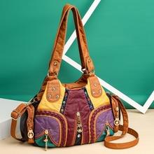 Новая модная женская сумка из искусственной кожи, дизайнерская мягкая Большая вместительная сумка-мессенджер, Высококачественная женская ...