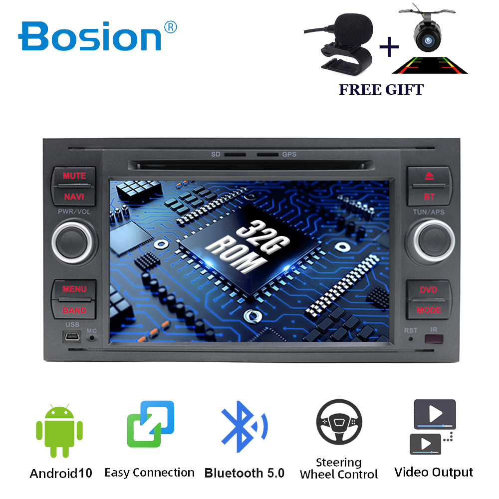 Bosion Car Multimedia Player Android 10.0 Car DVD for <font><b>Ford</b></font> Mondeo Focus 2 S <font><b>C</b></font> <font><b>Max</b></font> Fiesta Galaxy Car <font><b>Gps</b></font> Navigation Autoradio SWC image