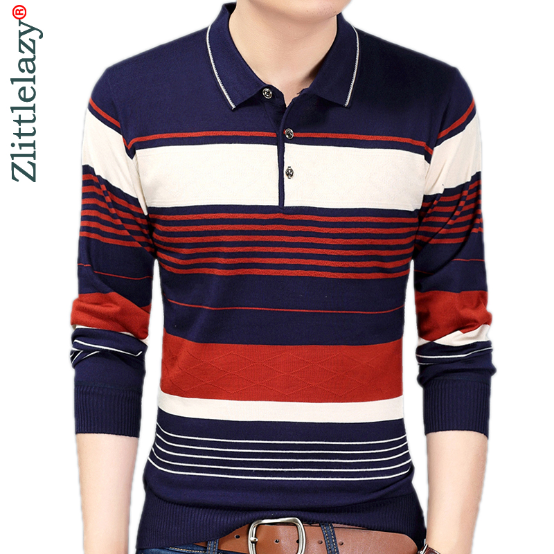 2019 Brand Casual Luxury Fitness Long Sleeve Polo Shirt Men Poloshirt Jersey Striped Mens Polos Tee Shirts Dress Fashions 90364